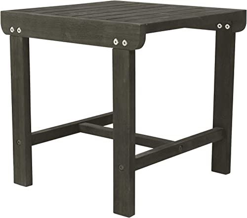 Vifah V1843 Renaissance Outdoor Patio Wood Side Table
