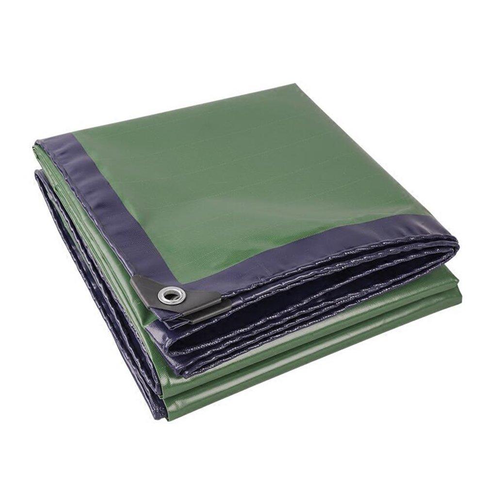 青緑色の0.45ミリメートルトラックのターポリン/レインクロスナイフ布/日陰の布/屋外の防水布/濃い色の布/ 520グラム/ m2、利用可能な様々なサイズ ( 色 : 緑 , サイズ さいず : 5*6m ) B07CRY83L1 5*6m|緑 緑 5*6m