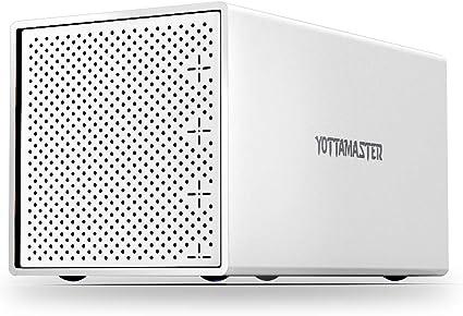Yottamaster [4X16TB] 4 bahías Aluminio Caja Disco Duro 2.5