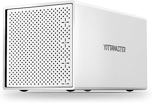 Yottamaster 4 Bahías Aluminio Caja para Disco Duro de 2.5