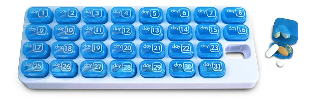31 Day Monthly Pill Organizer Pods