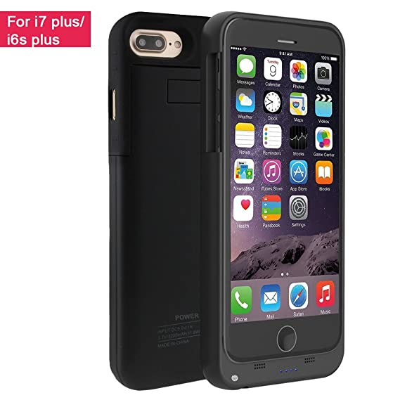 cheap for discount fcbbd 1c7c8 iPhone 7 Plus Battery Case,Vproof 4000mAh External Battery Backup Charger  Case Pack Power Bank for iPhone 7 Plus/iPhone 6s Plus 5.5 inch (Black)