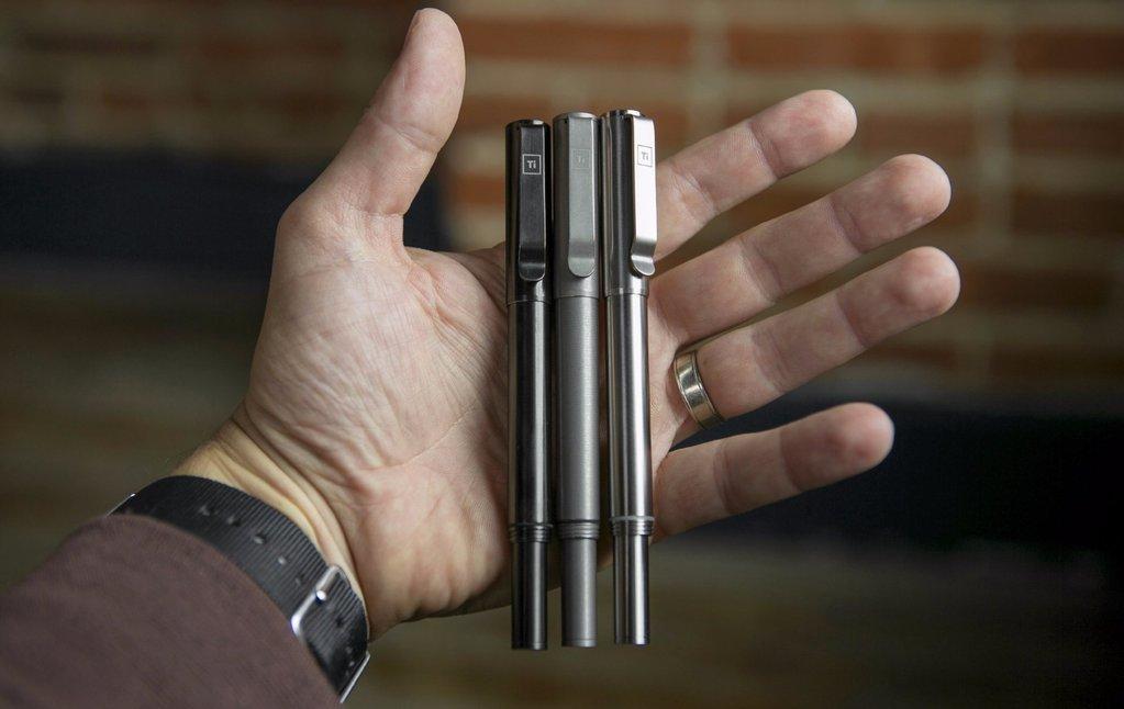 BIG IDEA DESIGN Ti Arto EDC : The Ultimate Refill Friendly Everyday Carry Pen (Stonewashed) by BIG IDEA DESIGN (Image #2)