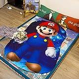 Koongso 3D Cartoon Mario Print Blanket Bedding Mario Shaped Summer Quilt Mario Comforter