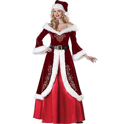 ShiyiUP Disfraces de Papá Noel para Navidad Traje de Cosplay para Adultos (XL, Vestido Mujer)