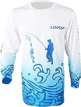 Lixada Camisa de Pesca Manga Larga Secado Rápido Respirable Ropa de Pesca para Hombres: Amazon.es: Deportes y aire libre
