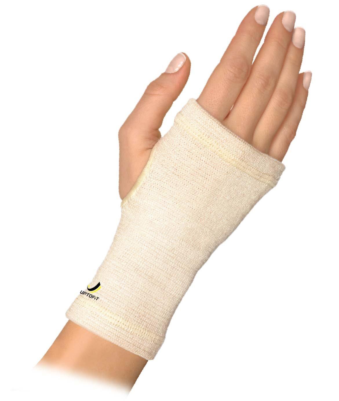 UPTOFIT Copper Wrist Compression Sleeve Carpal Tunnel Compression Hand Brace Lightweight Every Day and Night Support for Arthritis,Tendonitis,Bursitis,Wrist Sprain (M)