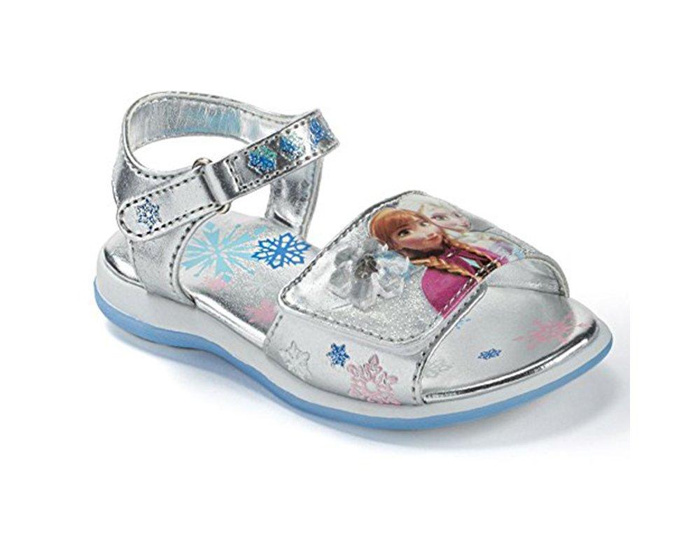 776a9caccc9c ... Disney s Frozen Anna   Elsa Toddler Girls  Light-up Sandals