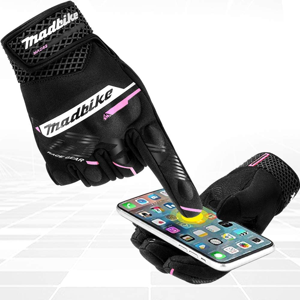 ILM Motorcycle Gloves Touchscreen Knuckle Protection for Street Bike Motocross Racing Outdoor Sports