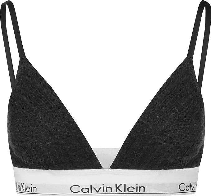 Calvin Klein Unlined Triangle, Sujetador de triángulo para Mujer ...