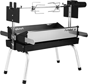 BBQ Creations B-005 PortaSpit Portable Spit Rotisserie/BBQ Charcoal Grill (Small Version)