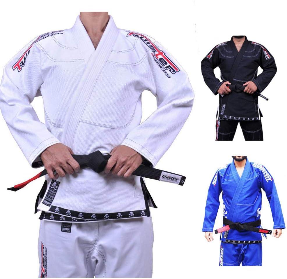 ツイスターProgress 5.0 Brazilian Jiu Jitsu Gi Mercerized /防縮加工済みパール織り475グラム ホワイト A3