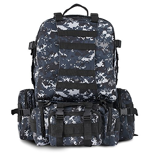 YIZHONGDA-55L-Sturdy-Tactical-Backpack-with-Three-MOLLE-Bags-High-grade-nylon-Military-Rucksack-Backpack-Bag-for-Outdoor-Activites-Hunting-and-Climbing