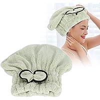 4 colores Sombrero de cabello de secado rápido, Toalla Envoltura de diadema Gorro de pelo de turbante Gorro de baño de…