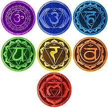 7 Chakras Energy Centers Wall Decal Set - Yoga Studio Decor, Meditation Decal, Spiritual Gift Idea for Yogis