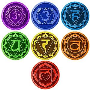 My Wonderful Walls 7 Chakras Energy Centers Wall Decal Set – Yoga Studio Decor, Meditation Decal, Spiritual Gift Idea…