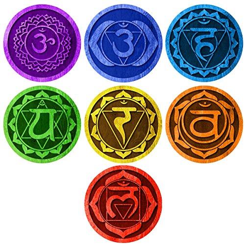 7 Chakras Energy Centers Wall Decal Set - Yoga Studio Decor, Meditation Decal, Spiritual Gift Idea for Yogis by MyWonderfulWalls