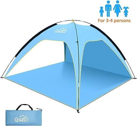 Qomolo Pop Up Beach Tent Large, Portable Automatic Instant