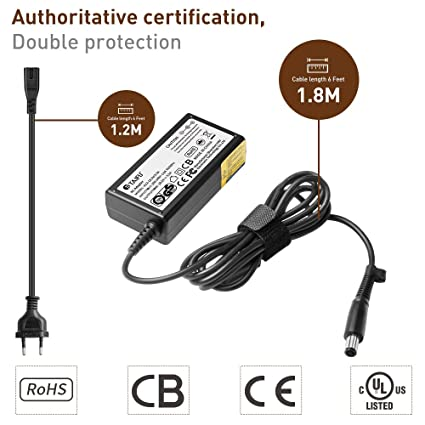TAIFU 65w Ac Adaptador Cargador Para Hp Pavilion Dv6 Dv7 Dv4 Dv5 Dv6-6135dx Dv7-6154nr ...