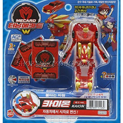 KAION Red_ New Turning Mecards W Transformer Robot to Car Korean Toy by Sonokong
