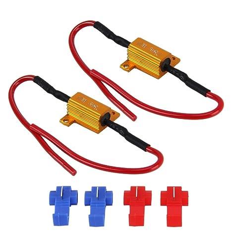 Luces de alta calidad, 2 PCS Car Canbus Error Cancelador Decoder Carga Resistor LED 10W