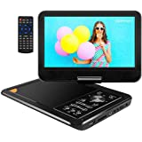 APEMAN APEMAN 9.5' Portable DVD Player with Swivel Screen Remote Controller Support SD Card USB DVD AV in/Out Earphone Speaker 5 Hours BuiRB-in Rechargeable Battery for TV Kids Car Travel Companion