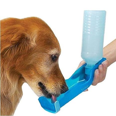 Japace® biberón gato y perro Beverino Botella portátil con bol para gatos y perros plástico