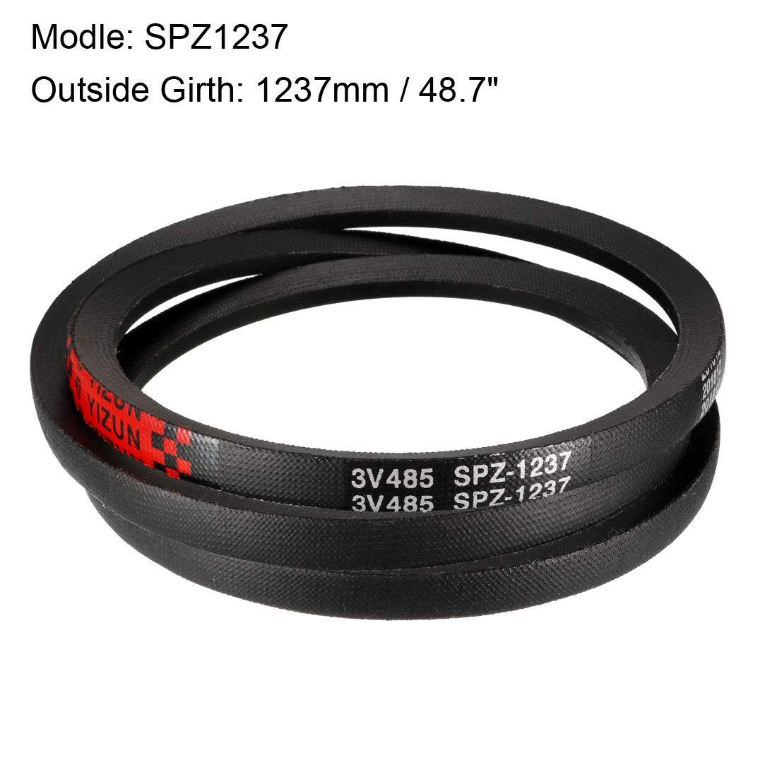 uxcell/® SPZ1462 Drive V-Belt Outside Girth 1462mm Industrial Power Rubber Transmission Belt