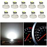 WLJH 10x White T3 Neo Wedge Led 3030 SMD Chip 8mm Base Led Car Dash Instrument Clock Light Check Engine Transmission…