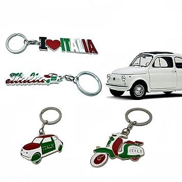 Llavero la Bella Italia Fiat 500: Amazon.es: Oficina y papelería