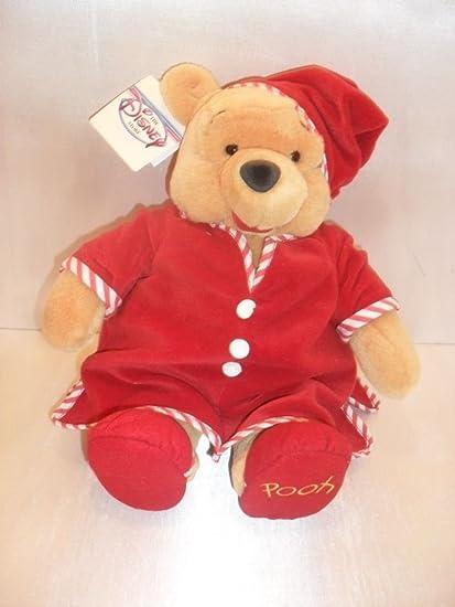 cf3c985b733b Amazon.com  Disney Winnie The Pooh Bear Plush PJs Night Cap Red ...