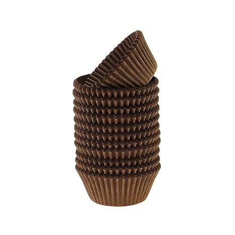 HILUX tamaño estándar marrón Cake para cupcakes Cupcake Liners Moldes para magdalenas (papel maletero,