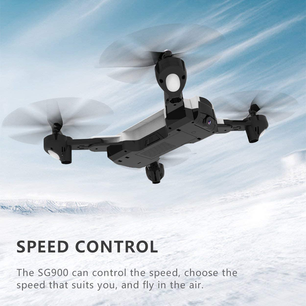 SG900 2.4G Foldable 720P FPV Optical Flow Positioning 22 Minutes Flying Gesture Photo//Video Image Sensing Follow RC Quadcopter