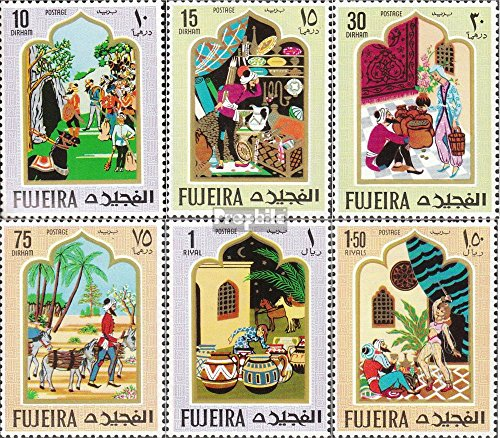 - Fujeira 186A-191A (Complete.Issue.) 1967 Oriental Fairytale (Stamps for Collectors) Other Themes