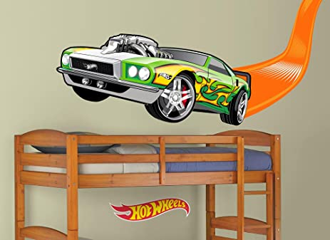 Amazon.com: Hot Wheels Flame Car Wall Decal: Home & Kitchen