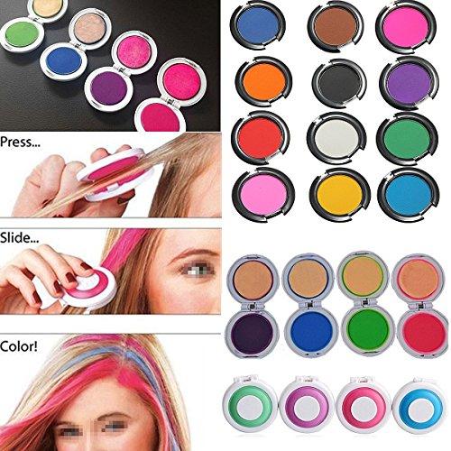 LuckyFine 4 Farben 4 Stück Farbe Haar-Kreide-Pulver Kreide für Haarfärbemittel Temporary Haarfarbe Frisur