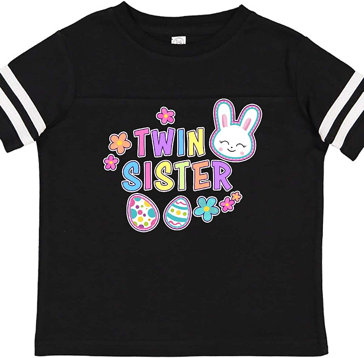 inktastic Twin Sister with Bunny Face and Easter Eggs Toddler T-Shirt