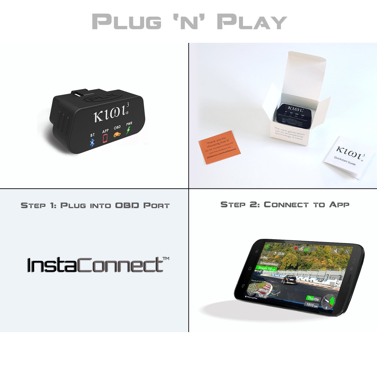 PLX Devices Kiwi 3 Bluetooth OBD2 OBDII Diagnostic Scan Tool for Android, Apple, Windows Mobile by PLX Devices (Image #8)