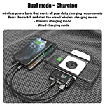 Dudao 3 in 1 Dual Mode QC 3.0 Wired & Wireless 10000mAh Power Bank for Mobile, Type C Power Bank for iPhone, PD QC…