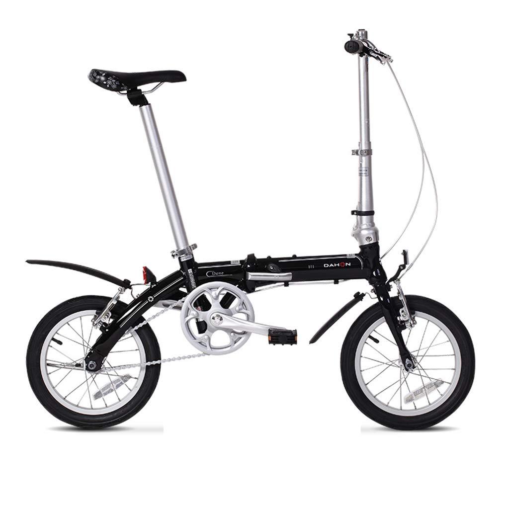 折りたたみ自転車 自転車折りたたみ自転車unisexミニ大人の自転車ポータブル小さな自転車自転車 (Color : Black, Size : 115 * 27 * 80cm) B07JVHNLLS  Black 115*27*80cm