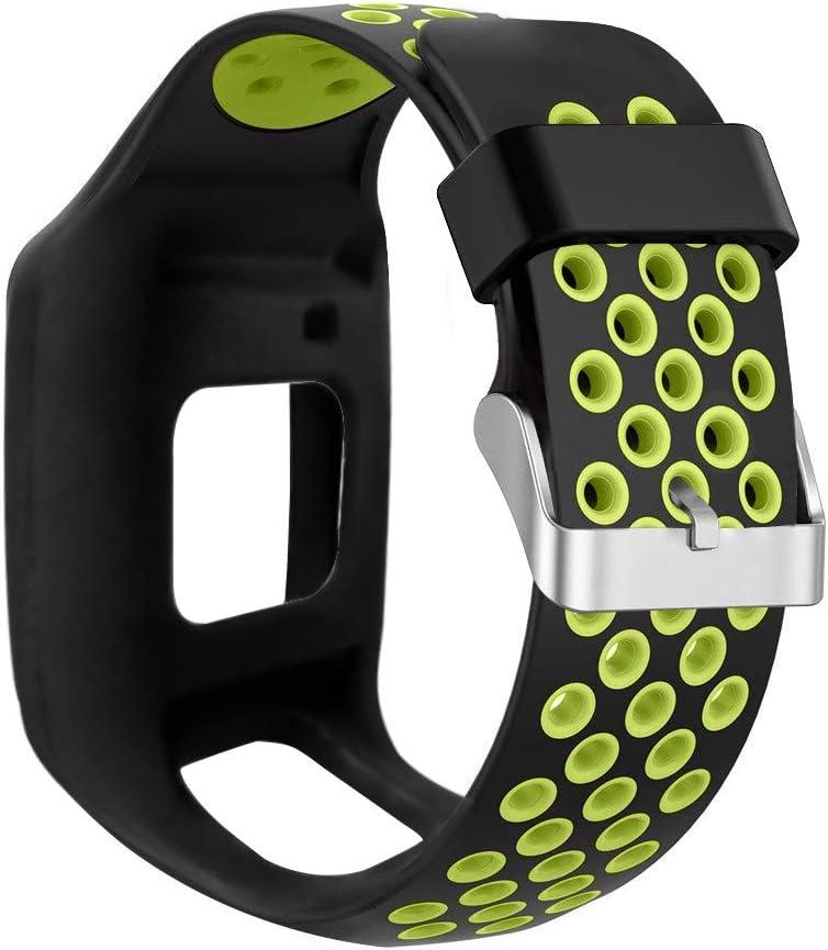 ZChun Correa de silicona de repuesto para TomTom 1 Multi-Sport GPS HRM CSS AM Cardio Runner Accesorios-24 cm
