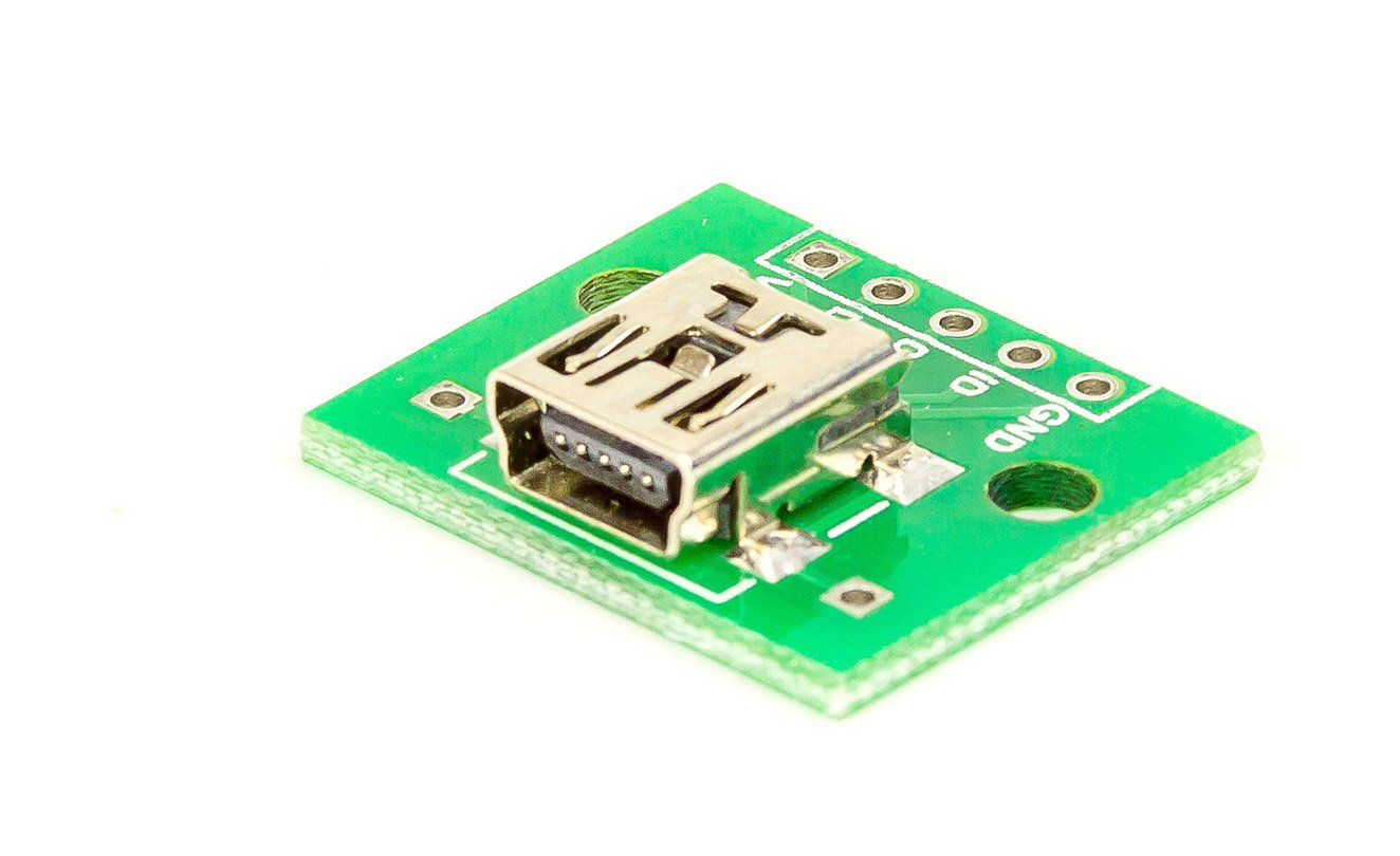 Mini USB auf 2, 54mm Prototyping-Adapter Platine fü r Arduino Raspberry Pi DIY Invetions tests MissBirdler