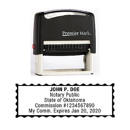 Amazon Com Oklahoma Notary Self Inking Rubber Stamp