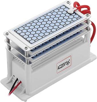 Baugger Ozonizador portátil Baugger - Generador de ozono de cerámica portátil AC 220V 15G / H Larga vida Tres ...