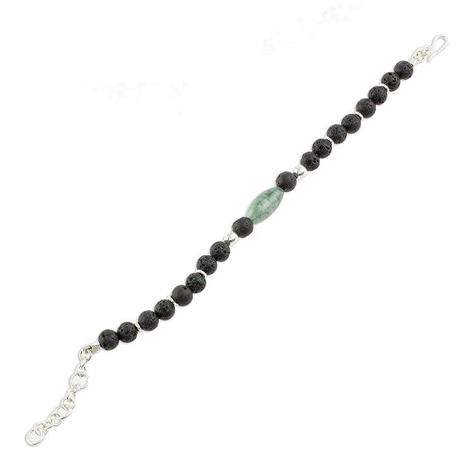 1173c8167b Amazon.com  NOVICA Jade .925 Sterling Silver Beaded Bracelet