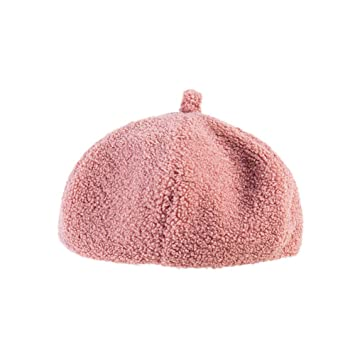 dd211655f5f7a Amazon.com  Fheaven (TM) Women Outdoor Leisure Beret Hat -Winter  Lightweight Warm -French Beret (Pink)  Beauty