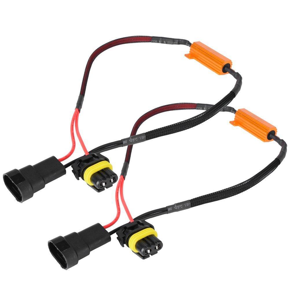 WINOMO faros delanteros de coche canbus libre de error de carga Resistencia decodificador de cable para H7 9006 Bombilla LED