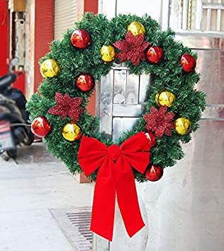 christmas garland for stairs fireplaces christmas garland decoration xmas festive wreath garland with christmas wreath red - Fireplace Christmas Decorations Amazon