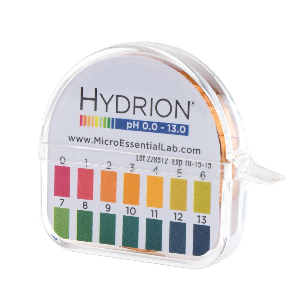 Hydrion Ph paper (93) with Dispenser and Color Chart - Full range ... for How To Use Ph Paper  177nar
