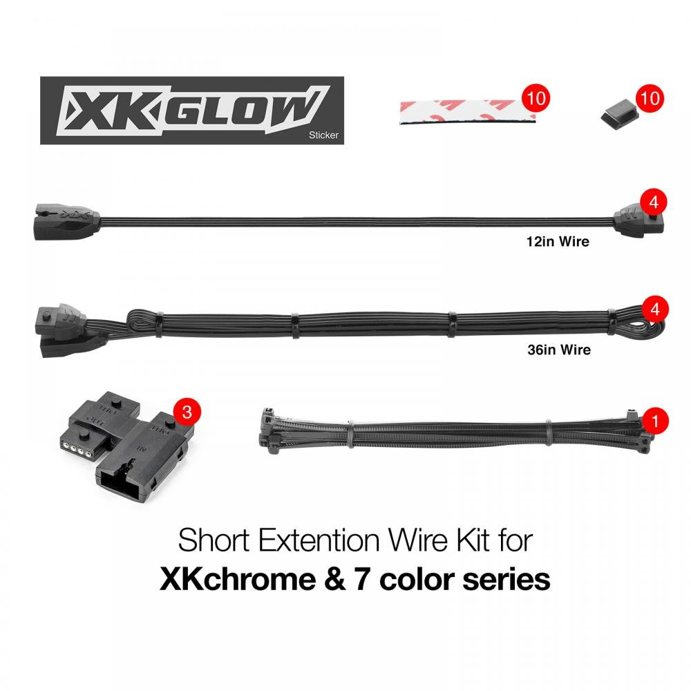 6ft 4pin Extension Wire for XKchrome /& 7 Color Series for Motorcycle ATV Snowmobile